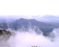 Mist covering the hills of Kodaikanal